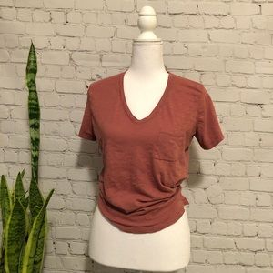Madewell V-Neck Pocket Tee - Sz Medium